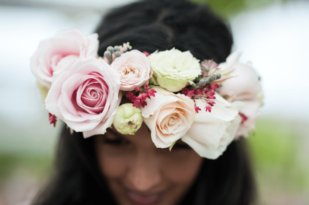 Floral Crown - Wedding - Chewton Glen Wedding Photoshoot