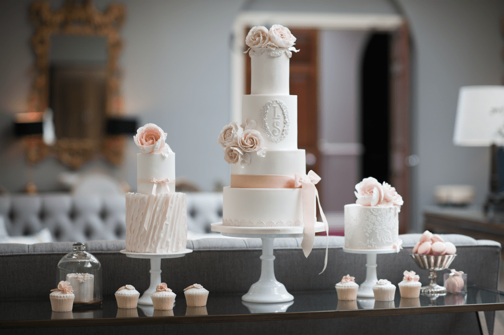 Cakes by Fancie Buns Cakery - Chewton Glen Wedding Photoshoot