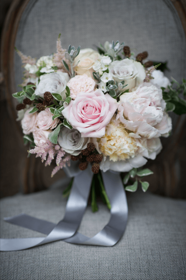 Floral Wedding Bridal Bouquet - Chewton Glen Wedding Photoshoot