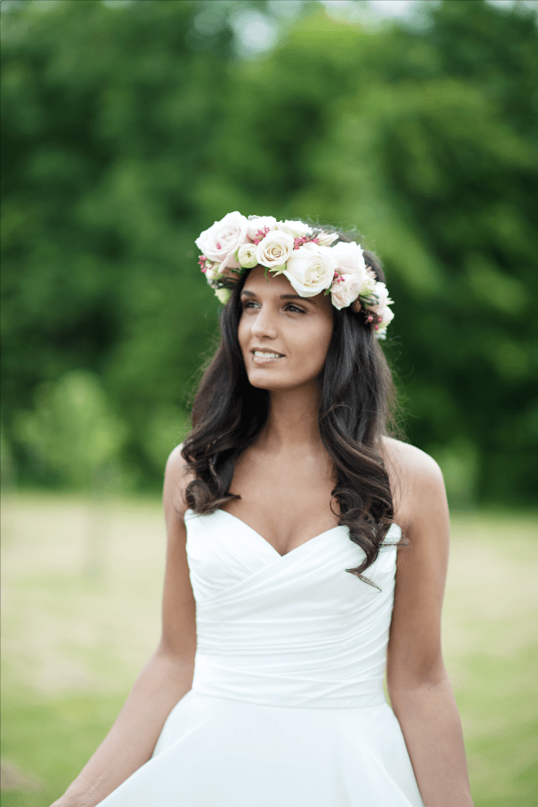 Penny by Augusta Jones - Arcade Flowers Flower Crown - Chewton Glen Wedding Photoshoot